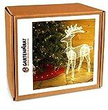 LED Rentier beleuchtet 89 cm warmweiß blinkend für außen Weihnachten von Gartenpirat®