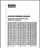 E-Z-GO EzGo 25122G11989–1998Service manuell für Elektro-Golf Cars, Trucks, Personal Fahrzeuge
