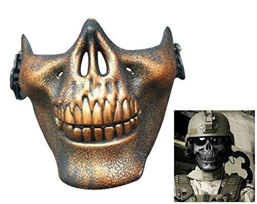 te Maske Bronze von Skelett für Cs Counter Strike Armee Militär Outfits Halloween Karneval (Armee Outfit Zu Halloween)