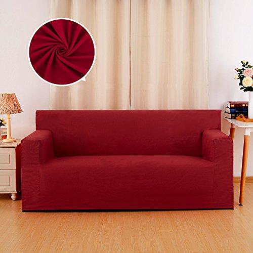 Deconovo copridivano trapuntato a 3 posti fodera per divano 90x60x206cm rosso