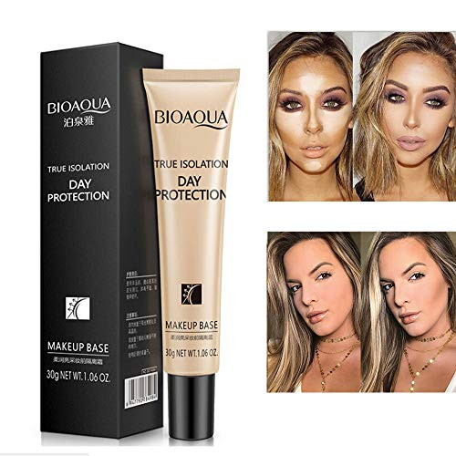 Cwemimifa Der Löscher Cover Make-Up, Flüssige Grundierung Gesichtsfarbe Wasserdicht Concealer Coverage Makeup Base 30g,Schwarz -