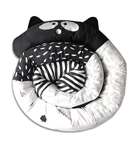 ToTs by Smartrike 410123 Snake Coussin pour lit de bébé Forme de serpent Noir