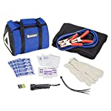 MICHELIN Travel Safety Kit - Car Blanket, Booster Cables, Flashlight, 1st Aid, Roadside Assistance and more!