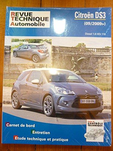 Revue Technique Automobile CITROEN DS3 depuis 09/2009 Diesel 1.6 HDi 110cv RRevue TechniqueB0776.5
