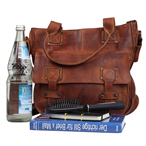 Billy the Kid Panamerica Sac à main - Fourre-tout cuir 34 cm cognac