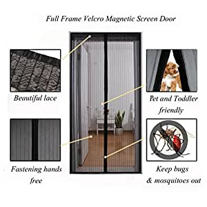 Surpass 72 w x 80 h magnetic screen door for french for French door magnetic screen