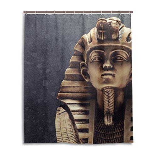 jstel Decor Vorhang für die Dusche Stein Pharao Tutenchamun Maske Muster Print 100% Polyester Stoff Vorhang für die Dusche 152,4x 182,9cm für Home Badezimmer Deko Dusche Bad (Zebra Deluxe Maske)