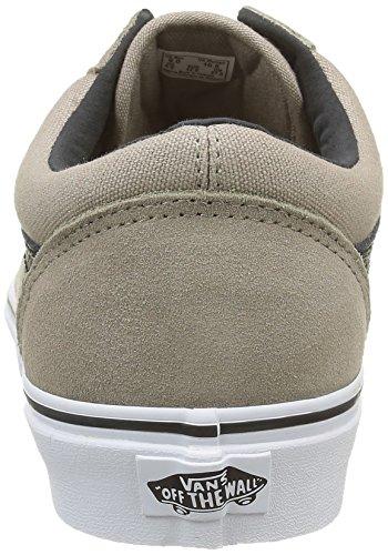 Vans U Old Skool, Chaussures Basses Mixte Adulte Gris (C&P Desert Taupe/True White)