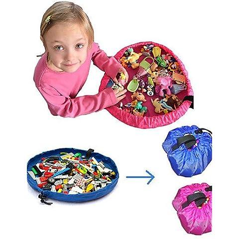 18cm Diametro per bambini, Tappetino da gioco Storage Bag Organizer rapidamente facilmente (Bambini Bin Organizer)