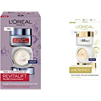 L'Oréal Paris Gesichtspflege Set, Revitalift Filler, Anti-Aging Tagespflege und Nachtpflege, Anti-Falten und Volumen…
