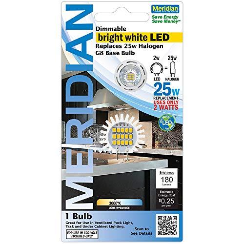 Weiße Led-dienstprogramm Licht (Meridian Elektrische 13142entspricht 25W SOFT weiß G8dimmbar LED Ersatz Leuchtmittel)