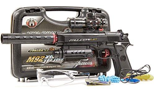 AEG Air-soft Vollautomatik Softair Spielzeug-Pistole Schalldämpfer Munition Akku inkl. Aufladekabel (Ein Maschine Krieg Kostüm)