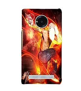 Fuson Premium Back Case Cover Rock Star With Black Background Degined For YU Yuphoria::Micromax Yuphoria YU5010
