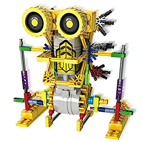 HAHAone robotics building sets science toys for kids , Assembly Building Blocks Bricks Robot DIY Toy Kit,Battery Motor Operated, 3D Puzzle Design Alien Primate Robot Figure