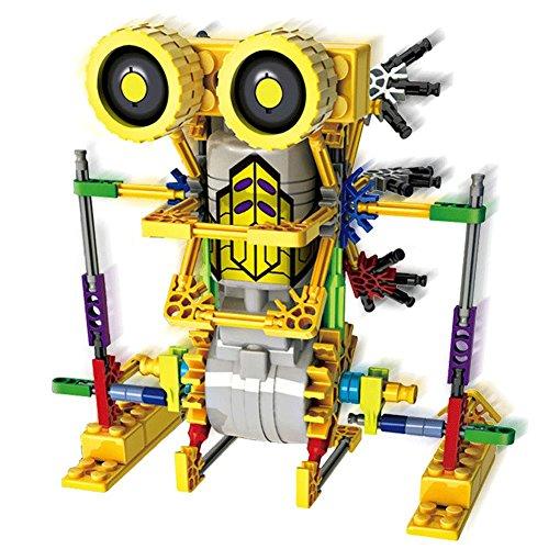HAHAone robotics building sets science toys for kids , Assembly Building Blocks Bricks Robot DIY Toy Kit,Battery Motor Operated, 3D Puzzle Design Alien Primate Robot Figure (kangaroo)