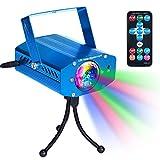 [7 Colores] Luces Discoteca Disco Club DJ Luz de Escenario de la Fiesta Iluminación de Efecto Escenario Mágica Luces Estroboscópicas con Control Remoto Sonido Activado Color Giratorio para el Hogar Cumpleaños Karaoke DJ Partes Sensorial Relajación Noche Iluminación - Azul