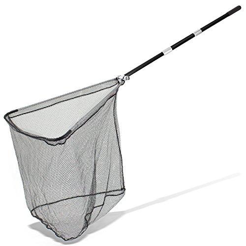 ARAPAIMA FISHING EQUIPMENT Kescher Angeln Teleskop Unterfangkescher gummiert Karpfen Hecht Teleskopkescher - 305cm - Schwarz