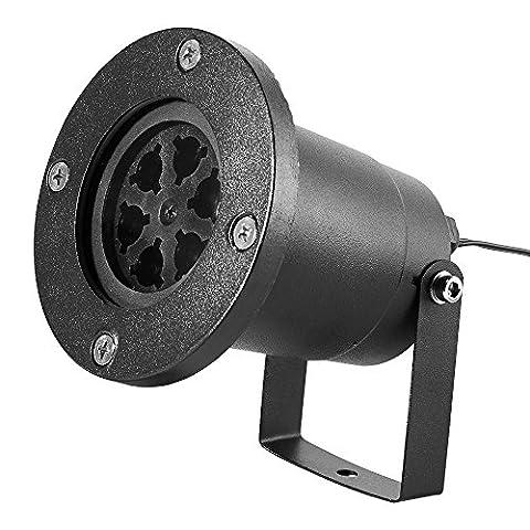 JUDYelc Schneeflocke Projektor Licht Bewegen automatisch Wasserdicht Haushalt LED Weihnachtsdekoration