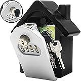 WWSZ Schlüsseltresor, Schlüsselsafe mit Zahlencode außen Groß Kapazität Safe Schlüsselbox Wandmontage für Aussen Innen Auto Garage Home Office Schlüssel