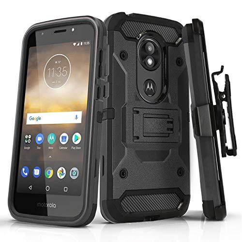 Schutzhülle für Motorola Moto E5 GO (Verizon), [Panzer-Serie], stoßfeste Schutzhüllen mit [Kickstand] & [Gürtelclip Motorola Moto E5 Go/Play/Cruise (Verizon Wireless Prepaid-Telefon), Gun Metal - Prepaid-verizon-handys
