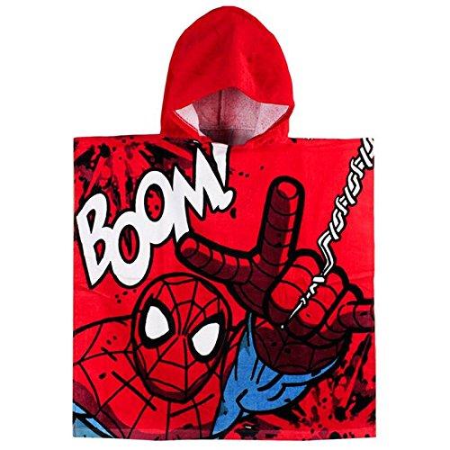 Spiderman 2200001107Poncho de plage Rouge