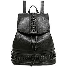 9209ae3137e1 OHQ Mme Backpack Sac à Dos Solide Petit Fraise Noir Voyage Femmes À Loisirs  ÉTudiant A