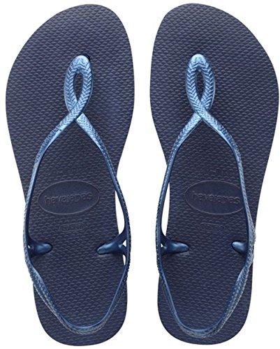 Havaianas - Luna, Sandalo da donna, colore blu (navy blue 0555), taglia 37/38 EU (Taglia Produttore : 35/36 BR)