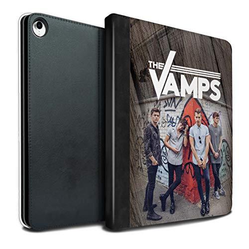 The Vamps PU Pelle Custodia/Cover/Caso Libro per Apple iPad PRO 12.9 2018/3rd Gen Tablet/Effetto Legno Servizio Fotografico Disegno