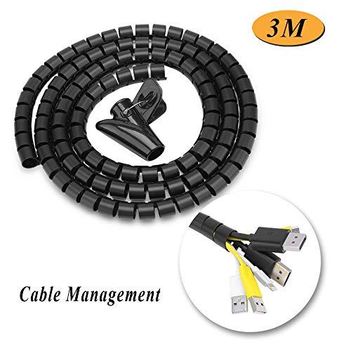 Kabel-Organizer Kabel-Organizer Kabel-Organizer Kabel-Organizer Spiral-Kabel-Wrap mit Rohr-Clip für Home Office -