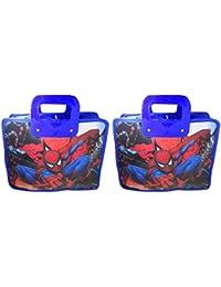 Majik Combo Of Kids Bag For Birthday Gift, Big Size Waterproof Bag For Boys Kid, Blue, 70 Gram, Set Of 2, Pack...