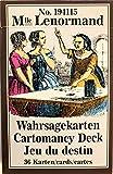 Mlle Lenormand Wahrsagekarten No. 194115 (Lenormand Wahrsagekarten)