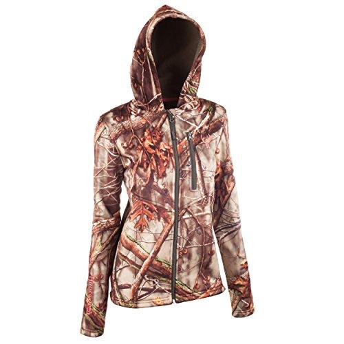 Huntworth Damen Berberjacke Heavy Weight Bonded, Damen, Hunting Jacket/Bonded Berber Jacket, Oak Tree EVO, Large -