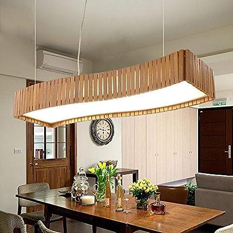 Fx@ La manera creativa de la lámpara de interior de madera maciza de madera ligero de habitaciones del hotel restaurante de la lámpara colgante de dormitorio para el hogar