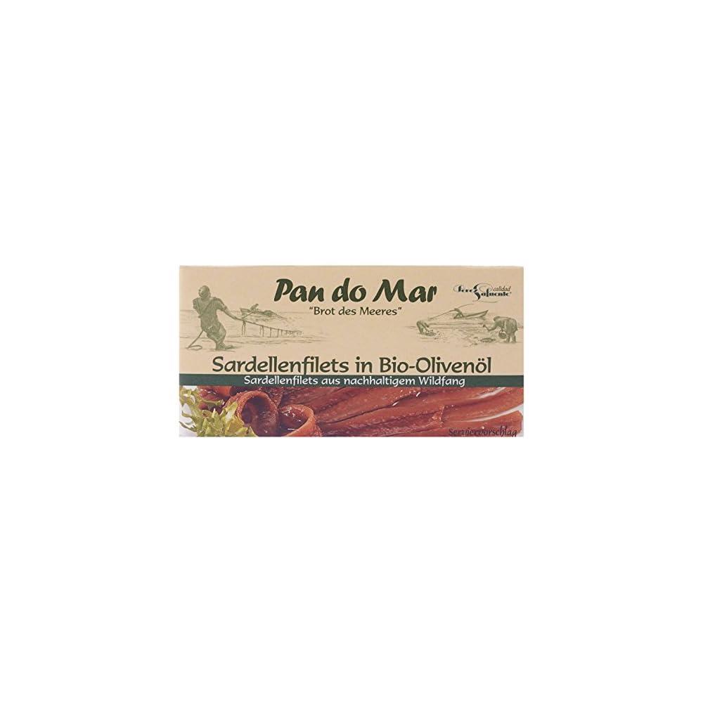 Pan Do Mar Sardellenfilets Anchovis In Bio Olivenl 5er Pack 5 X 50 G
