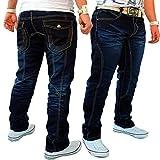 Kosmo Lupo Herren Jeans Hose Clubwear Freizeit Denim (Dunkel-Blaui (J.2.6 885), W30//L32)