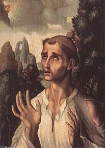Peinture à l'huile encadrée - 11 x 16 inches / 28 x 41 CM - Luis De Morales - Saint-Étienne (2)