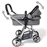 TecTake® 3 in 1 Kinderwagen Kombikinderwagen Buggy Babyjogger Reisebuggy Sportwagen Kids grau mit Moskitonetz und Regenhaube - 5