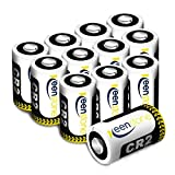 Keenstone 12 Piles CR2, Batterie lithium 3V 850mAh - Ultra haute performance / Auto-décharge plus faible /Densité d'énergie élevée avec PTC protégé pour Lampe torch Appareil photo numérique Caméscope