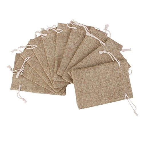 ROSENICE Bolsa de Organza Bolsitas de tela de saco bolsas de sacos 10p