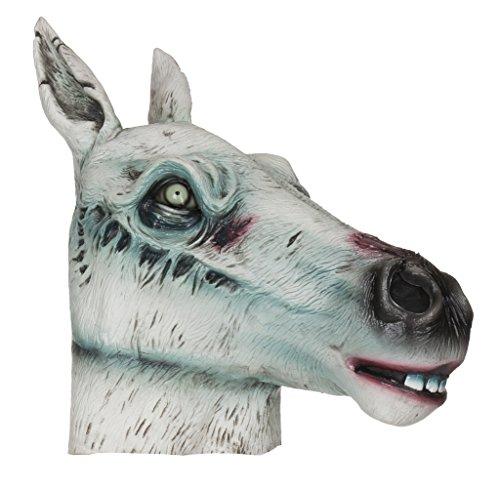 Bristol Novelty bm467Zombie Horse Maske (One Size) (Racing Horse Brille)