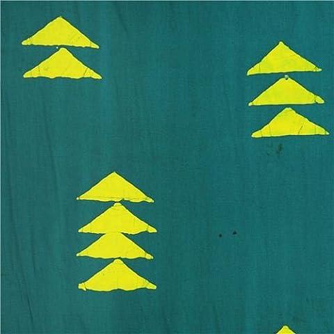 tessuto verde petrolio motivo geometrico triangoli Andover