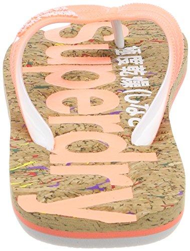 Superdry Cork Flip Flop, Infradito Donna Multicolore (Multi Fleckfluro Coral)