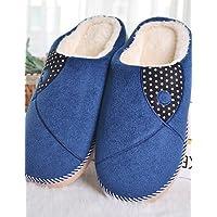 NTX/Herren Schuhe Casual Fleece Hausschuhe blau/braun