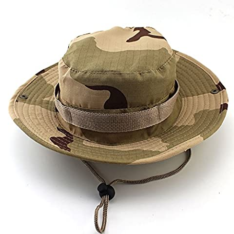 Washed Cotton Outdoor Hunting Sun Hat Camouflage Bucket Fishing Hats (Style 1)
