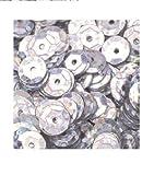 bastelkoerble Pailletten basteln in Silber hologramm, 6mm - 15gr - 1400stück, gewölbt