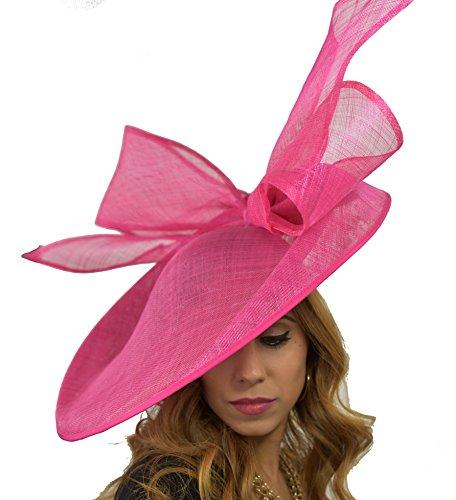 Superbe Nœud Chouette effraie Grande soucoupe Ascot mariage Derby Hat–Disponible Dans 40couleurs Ecru - Vison