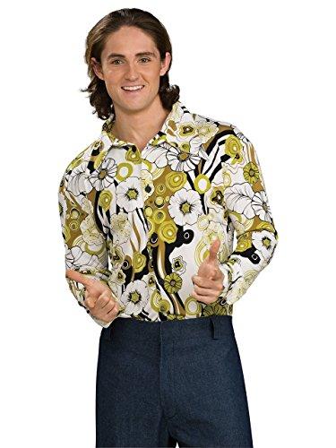 (Rubie's 1960er Retrohemd, Disco, Kostüm für Erwachsene, grün, US-Standardgröße)