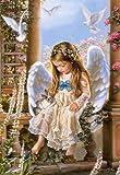 Puzzle 1500 Teile -  Kleiner Engel / Mädchen  - Castorland - Kind mit Tauben - Flügel nostalgisch Engelskind - Engelchen