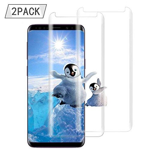 [2 Stück] For Samsung Galaxy S9 Plus Panzerglas Schutzfolie, Eroan Coverage HD Ultra Klar Abdeckung Gehärtetem Glas, HD Displayschutzfolie, Anti-Kratzer, 9H Härte,Klar Glatt, Anti-Fingerabdruck, Blasenfreie - Transparent