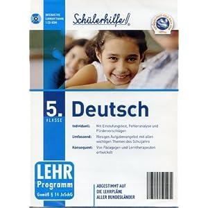 Schülerhilfe! ~ Deutsch ~ Klasse 5. ~ Die interaktive Lernsoftware für bessere Zeugnisnoten! ~ Abgestimmt auf die…
